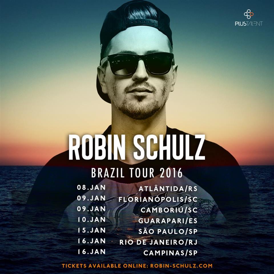 Tour de Robin Schulz no Brasil em 2016
