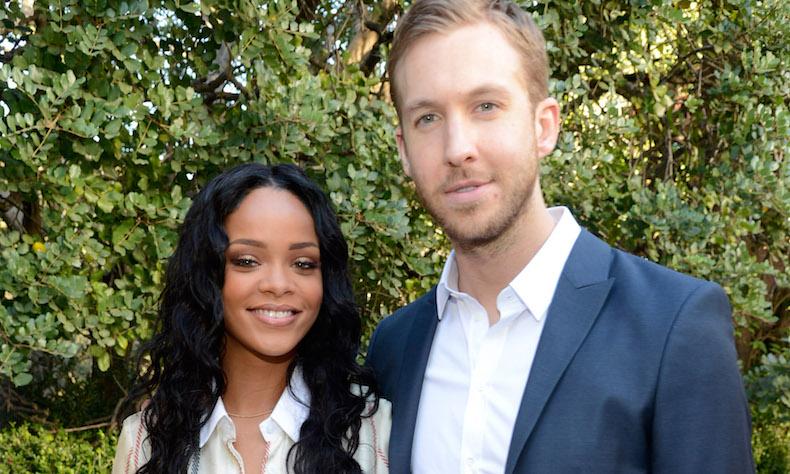Rihanna e Calvin Harris no Pre-GRAMMY