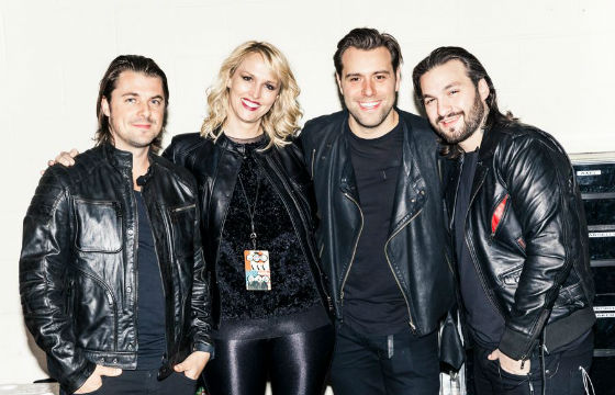 Amy Thompson e o trio Swedish House Mafia
